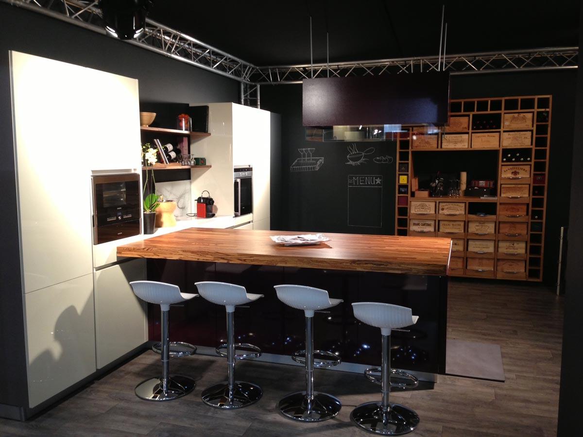 Cuisine Avec Plan De Travail Coulissant cuisine plan coulissant - cuisine art et bois genève